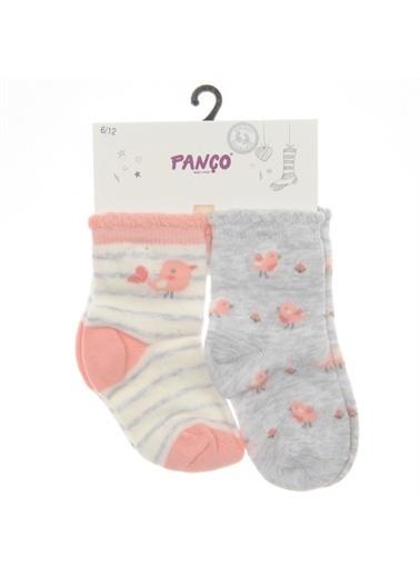 Panço Kız Bebek 2 li Çorap 1813627108 Renksiz
